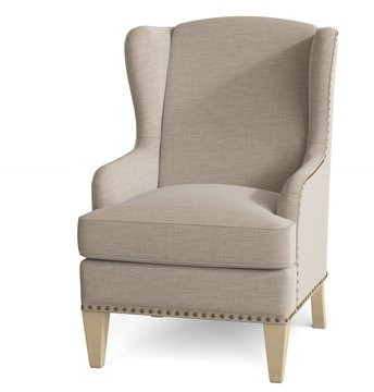 Goyito Wingback Chair Paula Deen Home Body Fabric: Fleek 10, Leg Color: Tobacco, Arm Covers: No With Best And Newest Saige Wingback Chairs (View 26 of 30)