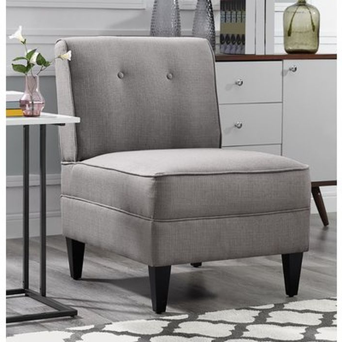 Gozzoli Slipper Chairs Inside Most Up To Date Gozzoli Tufted Slipper Chair – Wayfair (View 2 of 30)