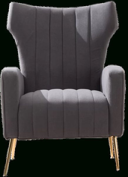 Gray With Lauretta Velvet Wingback Chairs (View 15 of 30)