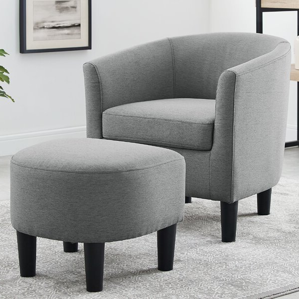 Grey Linen Chair For Well Known Munson Linen Barrel Chairs (View 13 of 30)