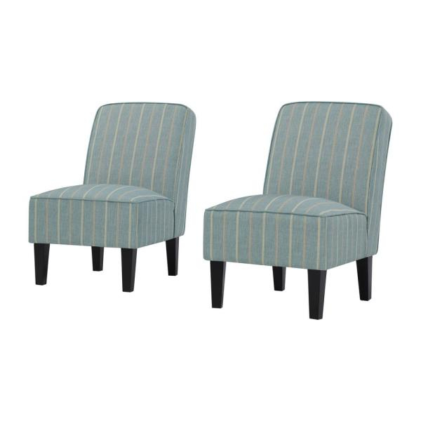 Handy Living Brodee Upholstered Armless Accent Chairs In Intended For Most Recent Armless Upholstered Slipper Chairs (View 13 of 30)