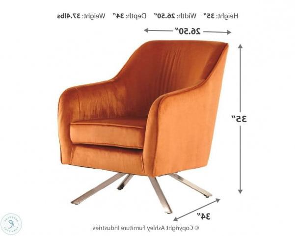 Hangar Orange Swivel Accent Chair Regarding Most Current Ronda Barrel Chairs (View 28 of 30)