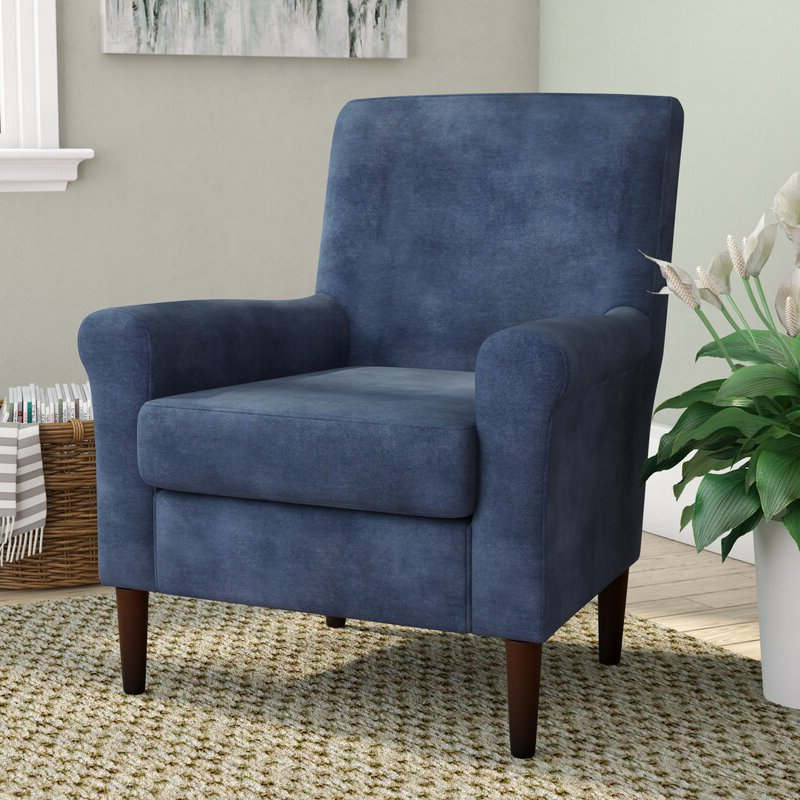 """Hanner Polyester Armchairs Pertaining To Well Known Ronald 28"""" W Polyester Blend Armchair (View 7 of 30)"""