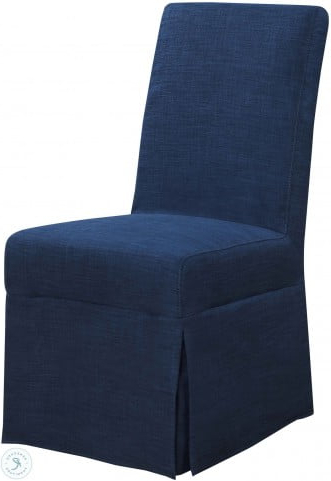 Harland Modern Armless Slipper Chairs With Regard To Most Recent Hayden Blue Parsons Dining Chair Set Of (View 24 of 30)