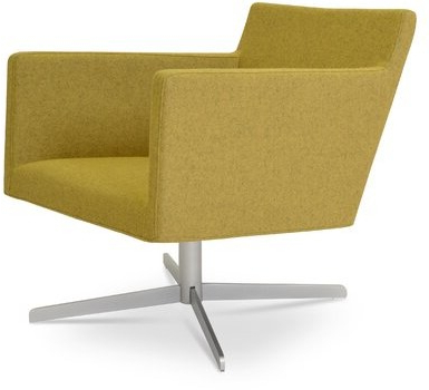 Harput Swivel Armchair Upholstery Color: Amber Throughout Well Known Blaithin Simple Single Barrel Chairs (View 17 of 30)