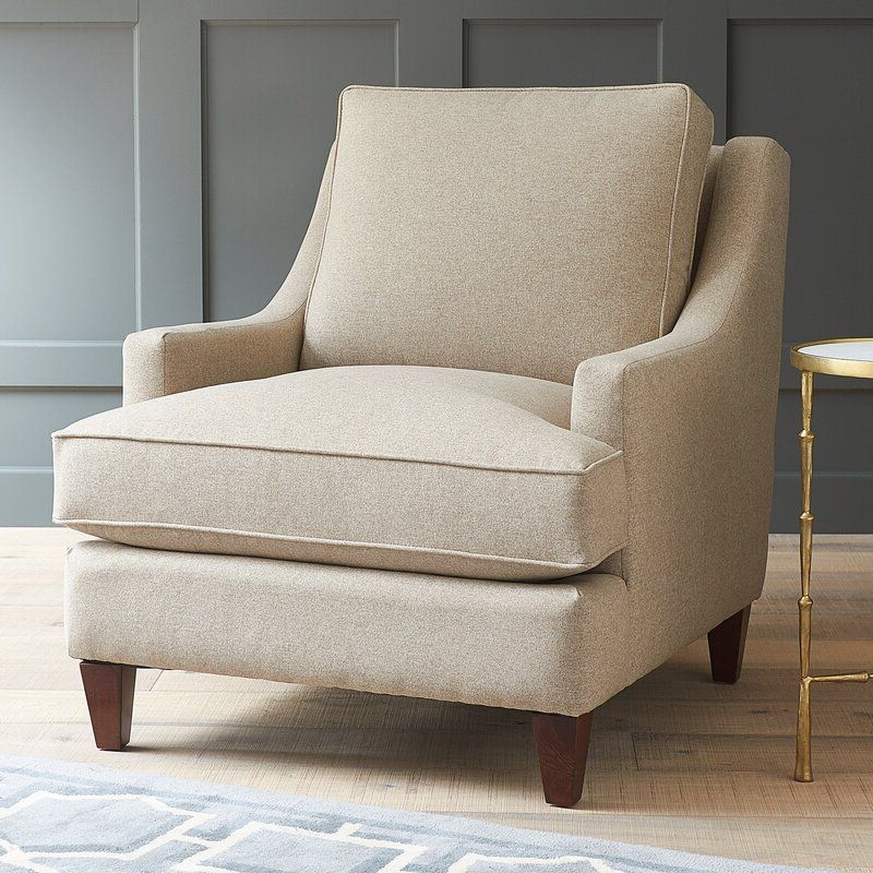 Hathaway Armchair, Armchair Regarding Most Current Alexander Cotton Blend Armchairs And Ottoman (View 18 of 30)