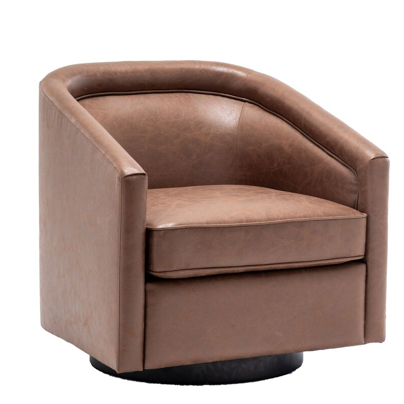 Hazley Barrel Swivel Chair – Wayfair For Well Known Filton Barrel Chairs (View 15 of 30)