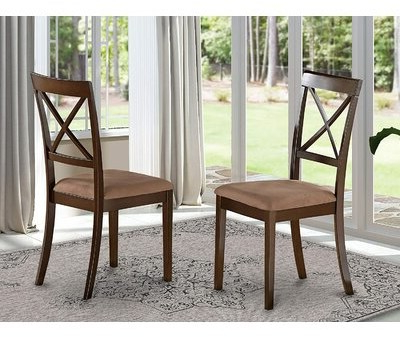 Hillhouse Solid Wood Dining Chair (set Of 2 Frame Color: Cappuccino Inside Most Up To Date Briseno Barrel Chairs (View 16 of 30)