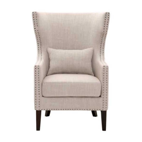 Home Decorators Collection Bentley Birch Neutral Upholstered For Newest Louisburg Armchairs (View 26 of 30)
