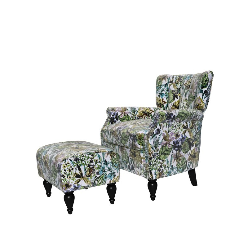 """Iosten Channel 20"""" Armchair And Ottoman For Current Riverside Drive Barrel Chair And Ottoman Sets (View 12 of 30)"""