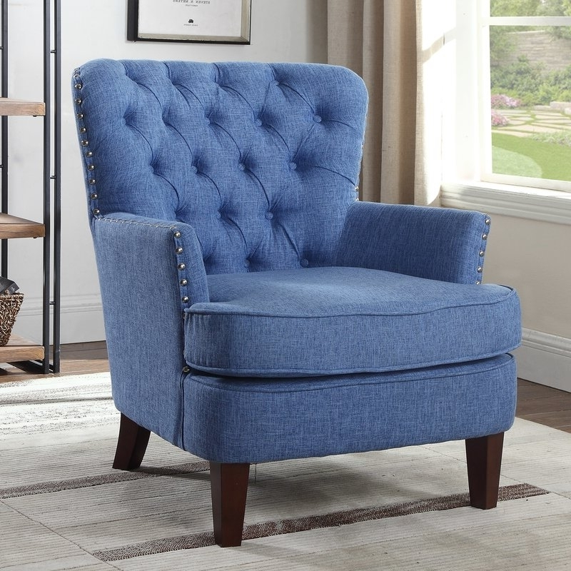Jayde Armchairs With Most Recent Navy Blue Accent Chair You'll Love In 2021 – Visualhunt (View 30 of 30)