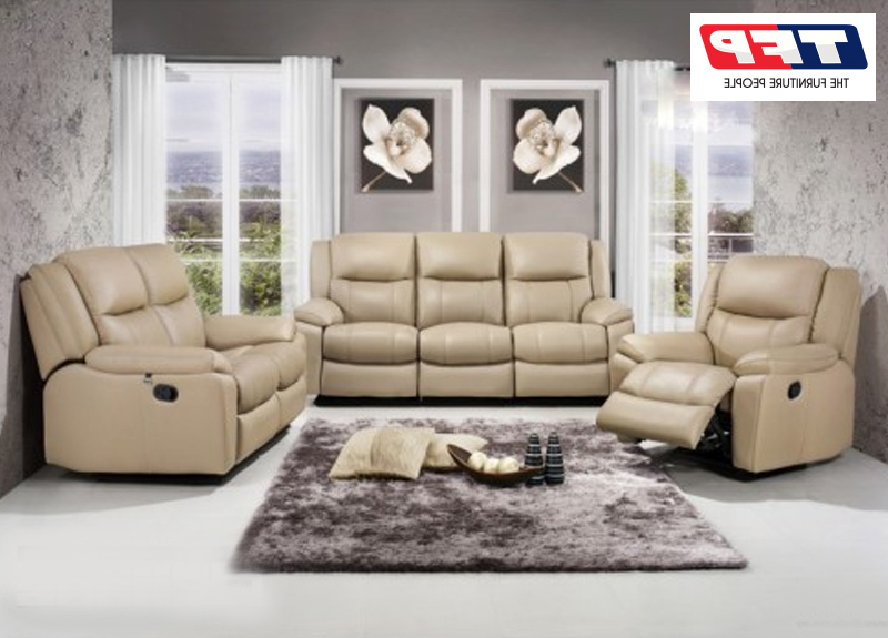 Jill Leather Recliner Lounge Suite Set (3 Seater +2 Seater + With Most Up To Date Jill Faux Leather Armchairs (View 11 of 30)