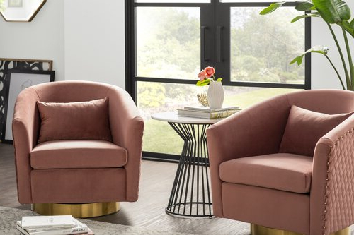Joss & Main Throughout Roswell Polyester Blend Lounge Chairs (View 15 of 30)