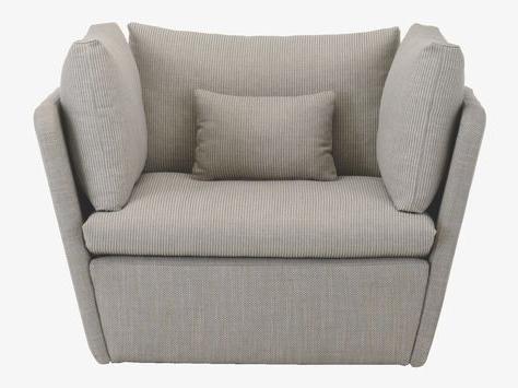 Kasha Grey Fabric Armchair – Upholstery Habitatuk (View 9 of 30)