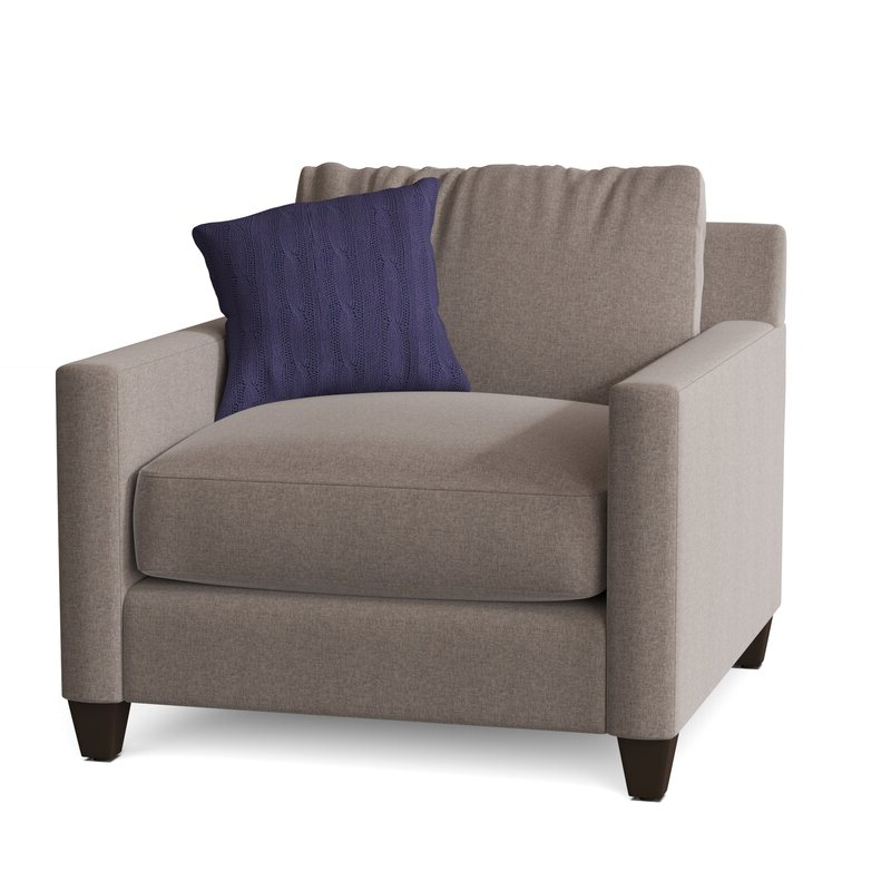 """Kerry 38"""" W Polyester Blend Down Cushion Armchair Throughout Well Known Polyester Blend Armchairs (View 22 of 30)"""