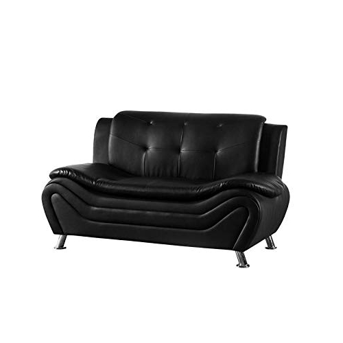 Kingway Furniture Gilan Faux Leather Living Room Loveseat In Regarding Widely Used Montenegro Faux Leather Club Chairs (View 8 of 30)