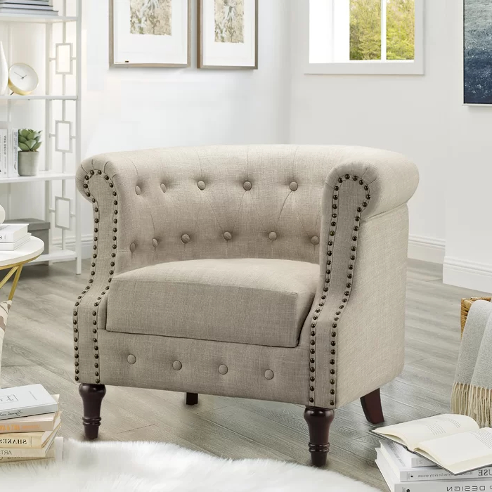 Kjellfrid Chesterfield Chairs Intended For Famous Charlton Home® Kjellfrid Chesterfield Chair & Reviews (View 5 of 30)