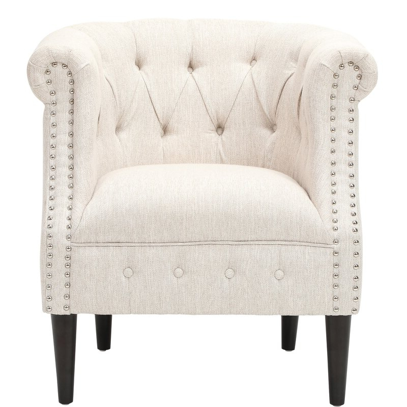 Kjellfrid Chesterfield Chairs Pertaining To Fashionable Starks Tufted Fabric Chesterfield Chair And Ottoman (View 9 of 30)