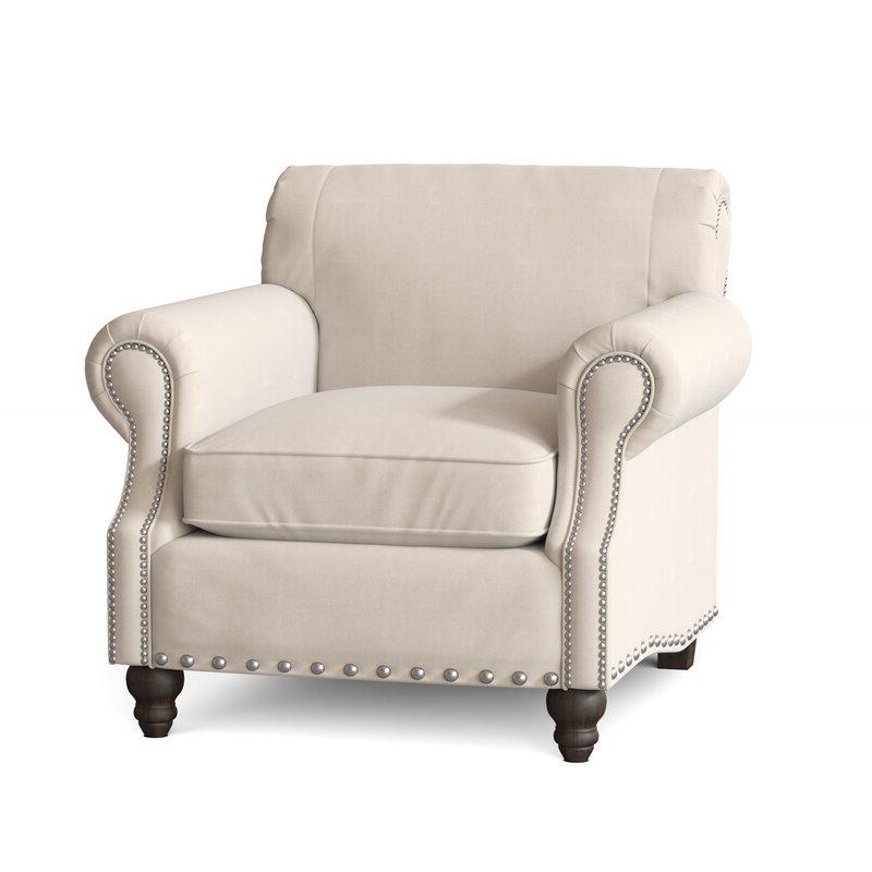 "Landry 40"" W Polyester Blend Down Cushion Armchair With Well Known Polyester Blend Armchairs (View 20 of 30)"