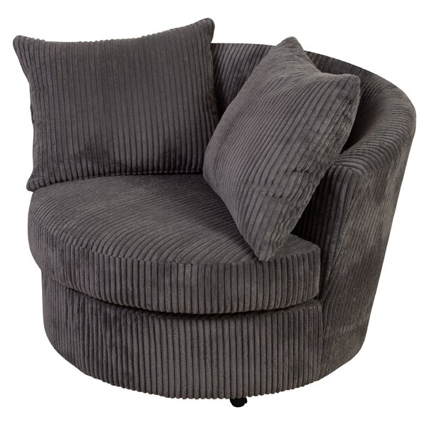 Large Cuddler Barrel Chair In Favorite Claudel Polyester Blend Barrel Chairs (View 3 of 30)