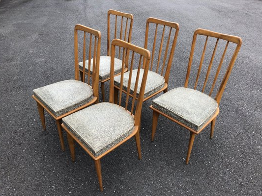 Latest Aime Upholstered Parsons Chairs In Beige Inside Dining Chairscharles Ramos, 1950s, Set Of (View 21 of 30)