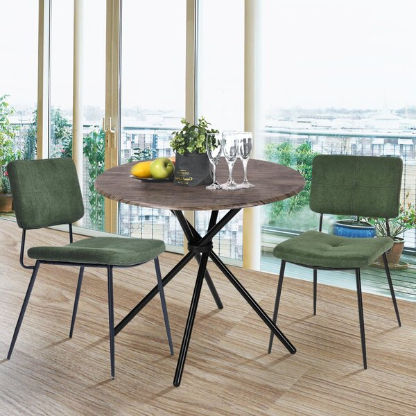 Latest Aspinwall 3 Piece Dining Set With Regard To Bernardston Armchairs (View 19 of 30)