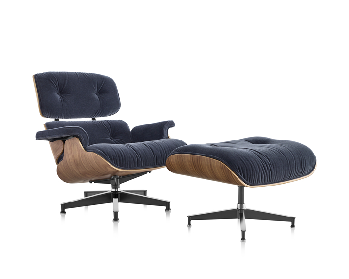 Latest Eames Lounge Chair For Armory Fabric Armchairs (View 26 of 30)