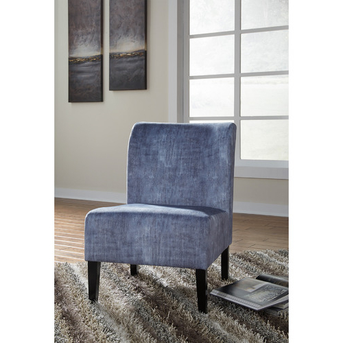 Latest Washed Denim Caldwell Accent Chair Throughout Caldwell Armchairs (View 30 of 30)