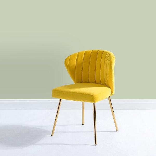 Latest Yellow Velvet Chair Pertaining To Daulton Velvet Side Chairs (View 15 of 30)