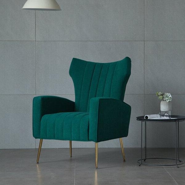 Featured Photo of Lauretta Velvet Wingback Chairs