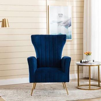 Lauretta Velvet Wingback Chairs For Well Liked Lauretta Wingback Chair – Wayfair (View 9 of 30)