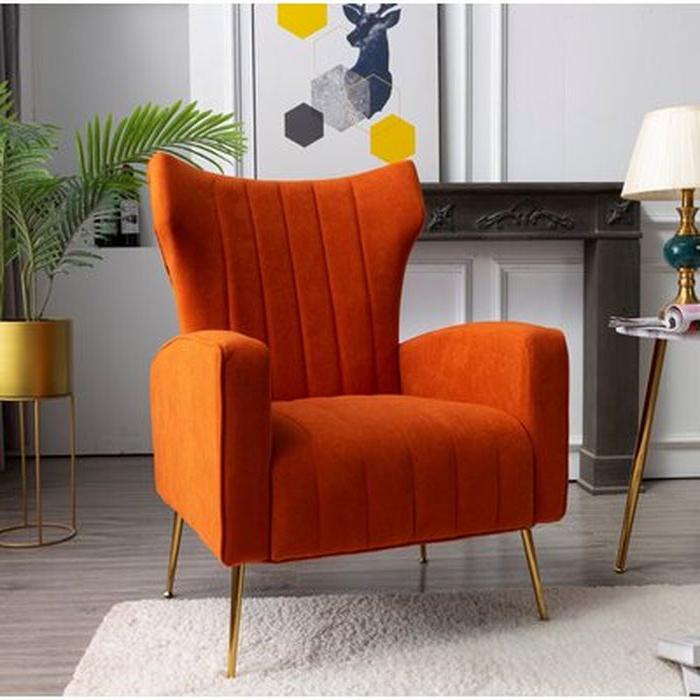 Lauretta Velvet Wingback Chairs Intended For Best And Newest Lauretta Wingback Chair (View 7 of 30)