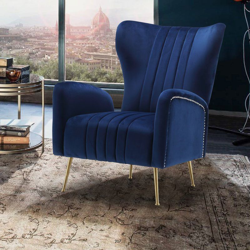 Lauretta Velvet Wingback Chairs With Regard To Recent Spady Wingback Chair (View 12 of 30)