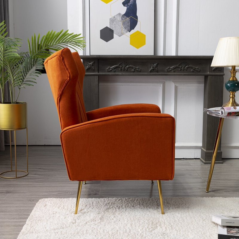 Lauretta Velvet Wingback Chairs With Trendy Lauretta Wingback Chair (View 10 of 30)