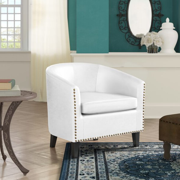 Leather Barrel Accent Chairs With Latest Coomer Faux Leather Barrel Chairs (View 5 of 30)