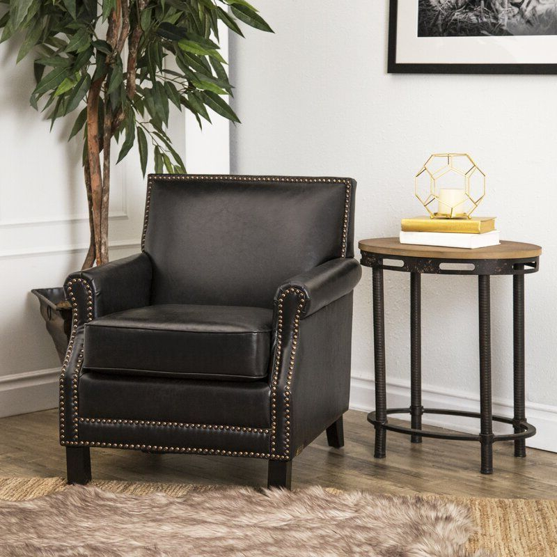 Leather Club Chairs, Black (View 5 of 30)
