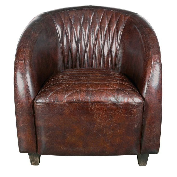 Leather Regarding Sheldon Tufted Top Grain Leather Club Chairs (View 2 of 30)