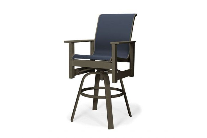 Leeward Mgp Sling Bar Height Swivel Arm Chair 959 Throughout Most Recent Beachwood Arm Chairs (View 20 of 30)