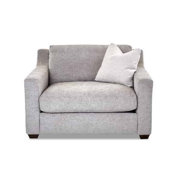 """Leia Polyester Armchairs Throughout Preferred Lazarus 55"""" W Polyester Down Cushion Armchair (View 17 of 30)"""