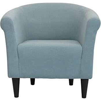 Liam Faux Leather Barrel Chairs Within Famous Zipcode Design Liam Barrel Chair, Living Room Chair (twilight Blue) (View 11 of 30)