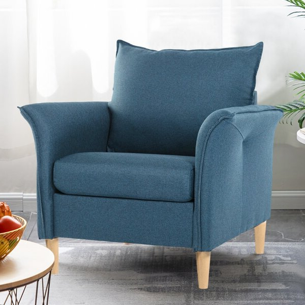 Light Blue Armchair Regarding Newest Ragsdale Armchairs (View 17 of 30)