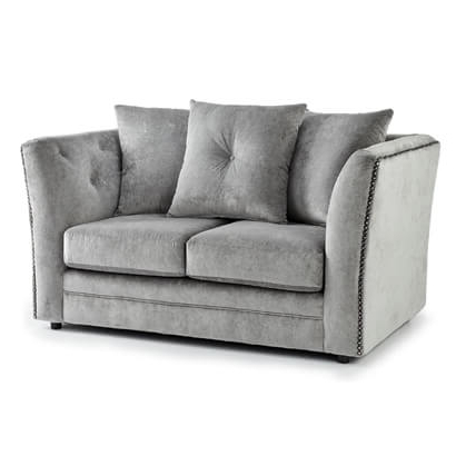 Loftus Swivel Armchairs For Most Current Westgate Two Seater Sofa In Grey Fabric (View 29 of 30)