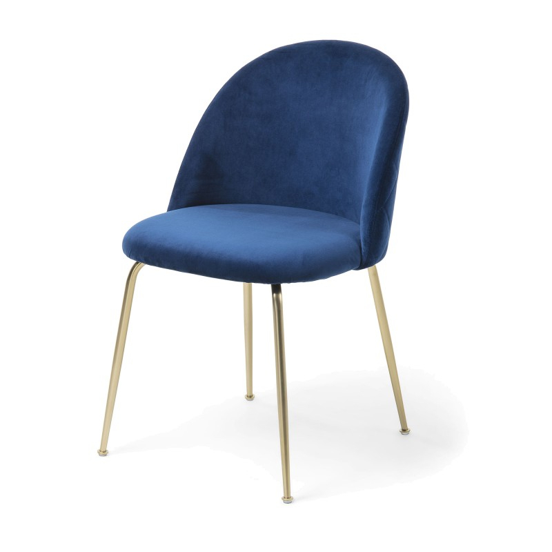 Loftus Velvet Fabric Dining Chair, Navy / Gold Intended For Well Known Loftus Swivel Armchairs (View 18 of 30)