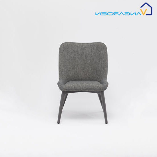 Lounge Chairs With Metal Leg For Famous Small Fabric Dining Chair With Metal Legs Patio Lounge (View 20 of 30)