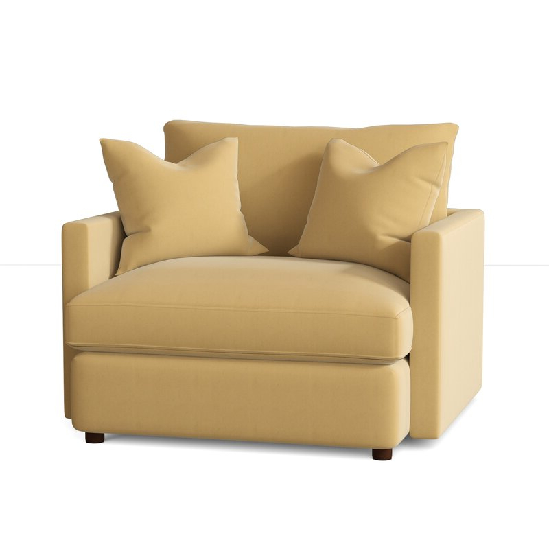 """Madison 47"""" W Polyester Blend Down Cushion Armchair Throughout Latest Polyester Blend Armchairs (View 28 of 30)"""