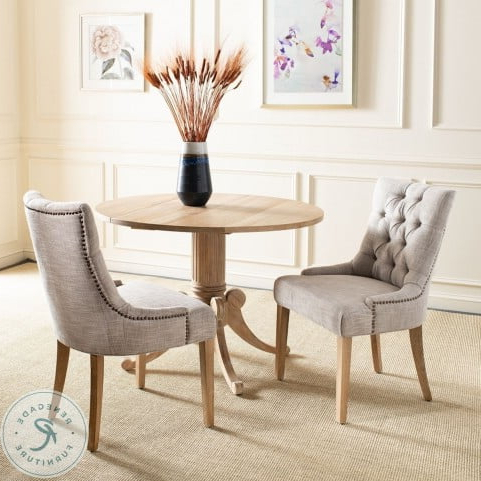 """Madison Avenue Tufted Cotton Upholstered Dining Chairs (set Of 2) Intended For 2020 Abby Gray 19"""" Tufted Side Chair Set Of (View 16 of 30)"""