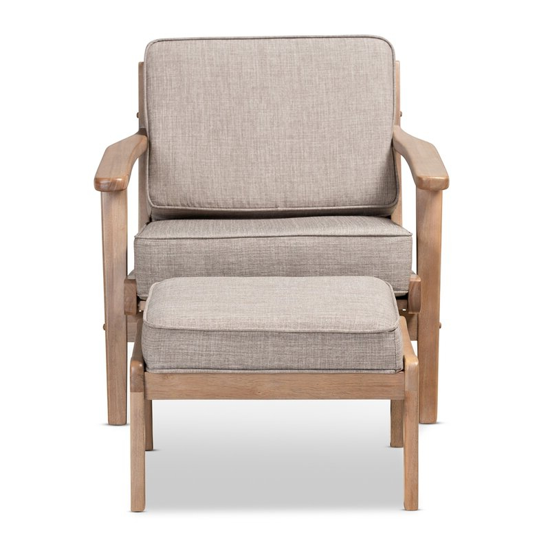 Malmesbury Lounge Chair And Ottoman Within Favorite Brames Barrel Chair And Ottoman Sets (View 16 of 30)