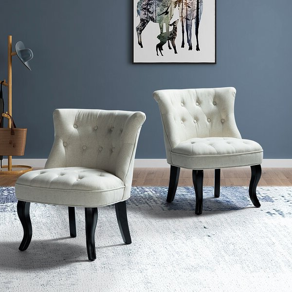 Maubara Tufted Wingback Chairs Pertaining To Fashionable Maubara (View 6 of 30)