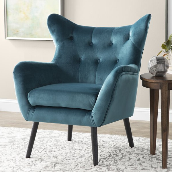 Maubara Tufted Wingback Chairs Pertaining To Well Known Aqua Wingback Chair (View 14 of 30)