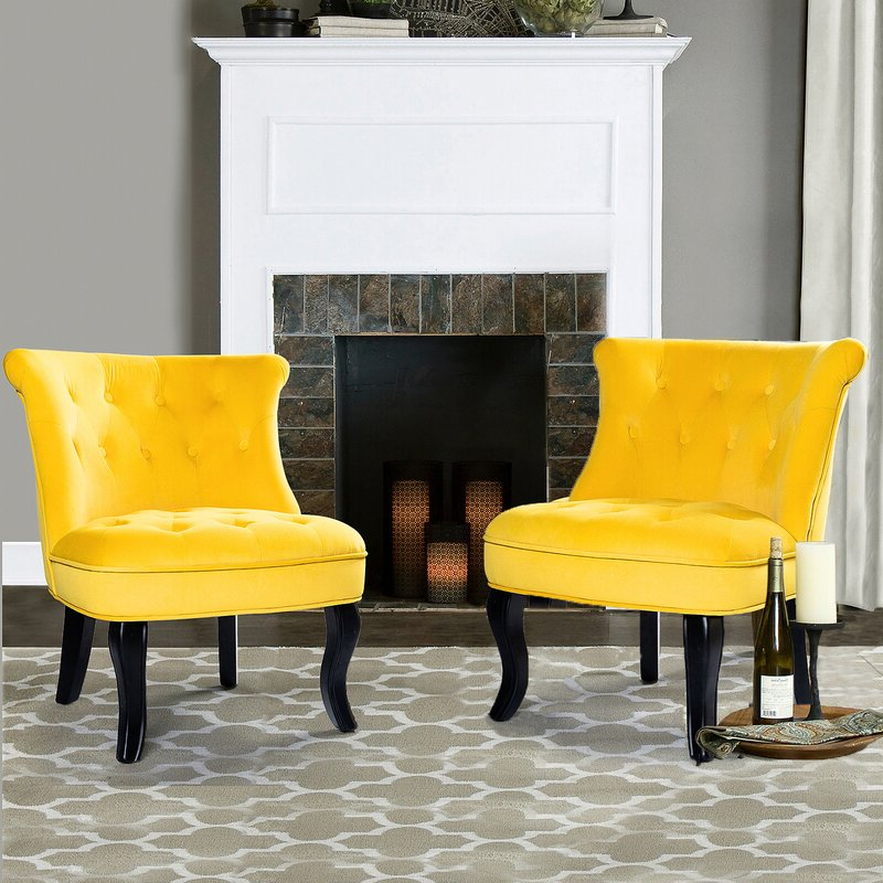Maubara Tufted Wingback Chairs Regarding Well Known Maubara (View 9 of 30)